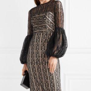 Rebecca vallance midi lace cocktail dress